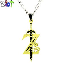 Buy Anime Game legend zelda Necklace Weapon Sword Accessories alloy Pendant choker necklace keychain men jewelry Cosplay gift for $1.57 in AliExpress store