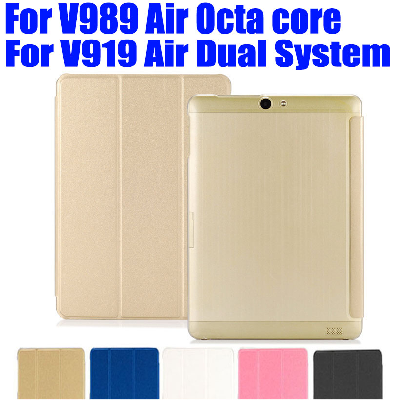 For Onda V989 Air Octa core v919 air Dual System Crystal Back PU Leather Case Flip cover for V989 Air v919 Air tablet pc OD01(China (Mainland))