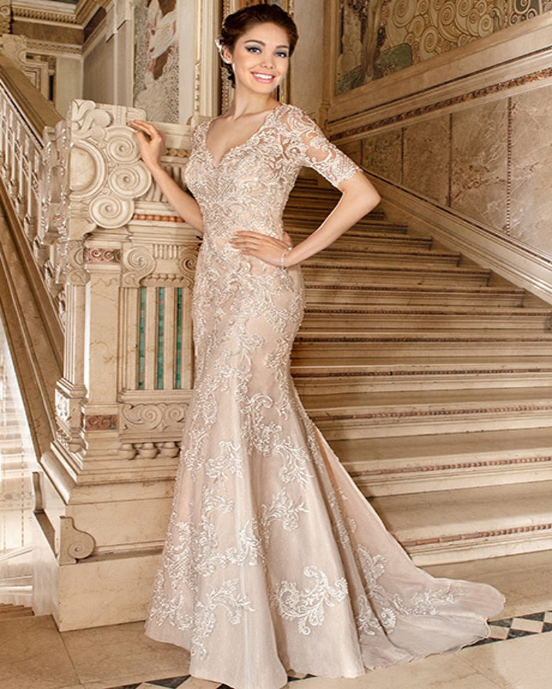 champagne lace mermaid wedding dress the image kid has it. Black Bedroom Furniture Sets. Home Design Ideas