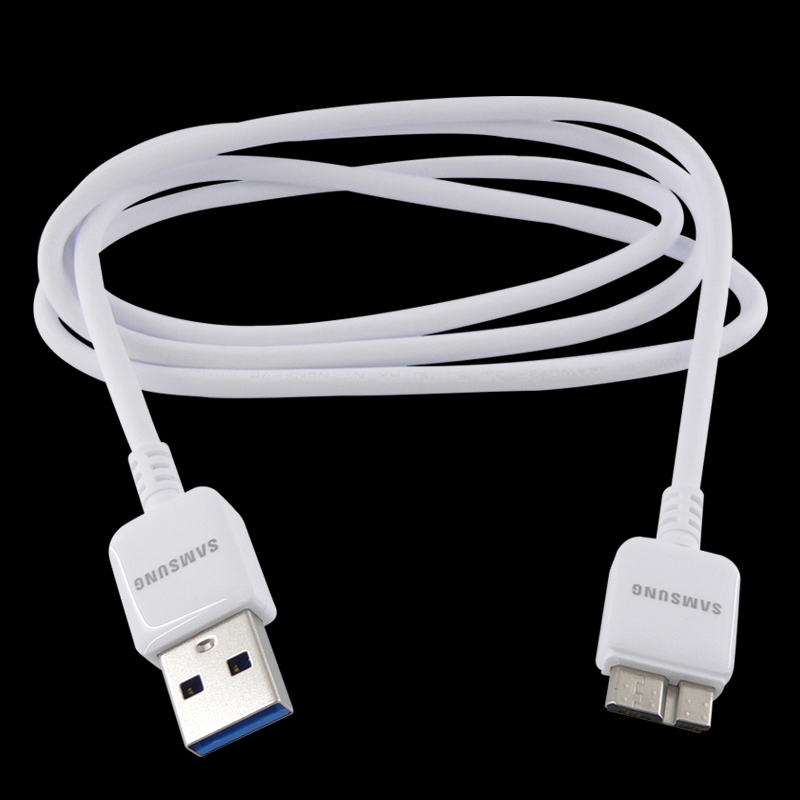 Retail Original Micro USB 3.0 Data Sync&charger Cable Samsung Galaxy S5 I9600 Note 3 Note3 N9000 White - New Land Electronics Co store