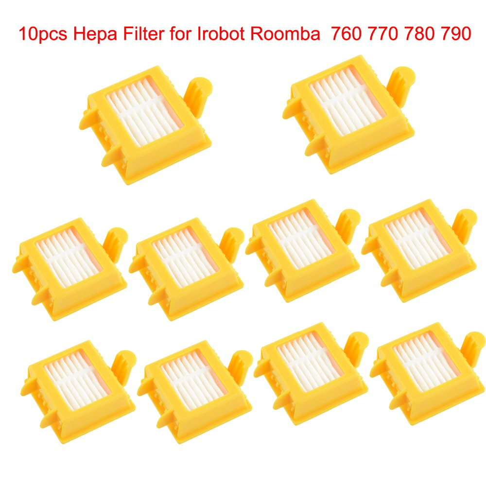 10pcs Hepa Filter Clean Replacement Tool Kit Fit for iRobot Roomba 700 Series 760 770 780 790 Free Shipping(China (Mainland))