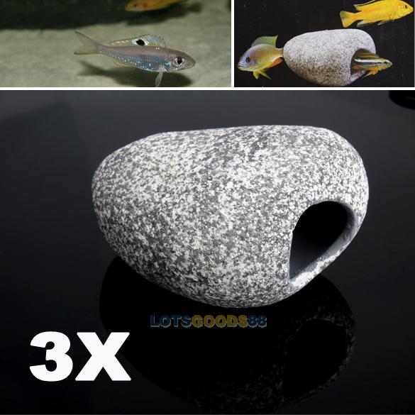 aquarium toebehoren ls4g 3 stuks aquarium decoratie aquarium ornament cichliden steen garnalen