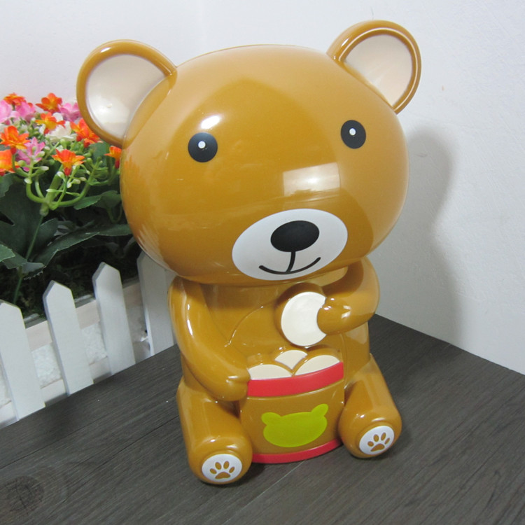 Bear piggy bank Large piggy bank animal birthday gift piggy bank(China (Mainland))