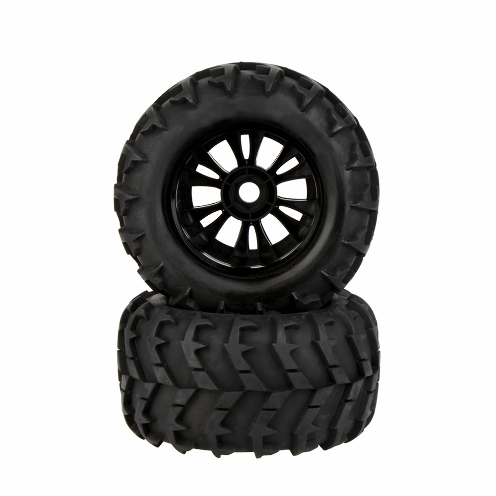 2Pcs RC 1/8 Monster Car Wheel Rim and Tire 810006 for Traxxas HSP Tamiya HPI Kyosho RC Car(China (Mainland))