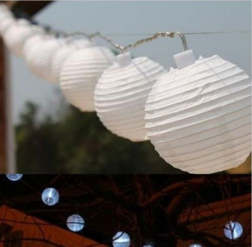 3PCS Solar Chinese 10LED Lantern Fairy White Light String Party outdoor Garden<br><br>Aliexpress