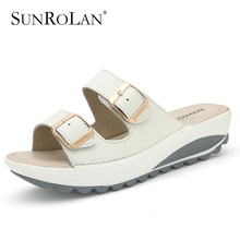 Comfortable women sandals 2016 new fashion genuine leather shoes woman slip on shoes summer women's open toe beach sandals 921(China (Mainland))