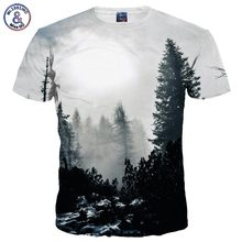 Mr.1991INC New Arrivals Men/Women 3d T-shirt Print Winter Forest Trees Quick Dry Summer Tops Tees Brand Tshirts(China (Mainland))