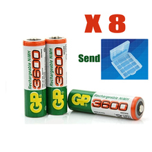 8 X NEW GP super No. 5 Rechargeable battery power bank 3600 MAh AA battery No. 5 Free shipping