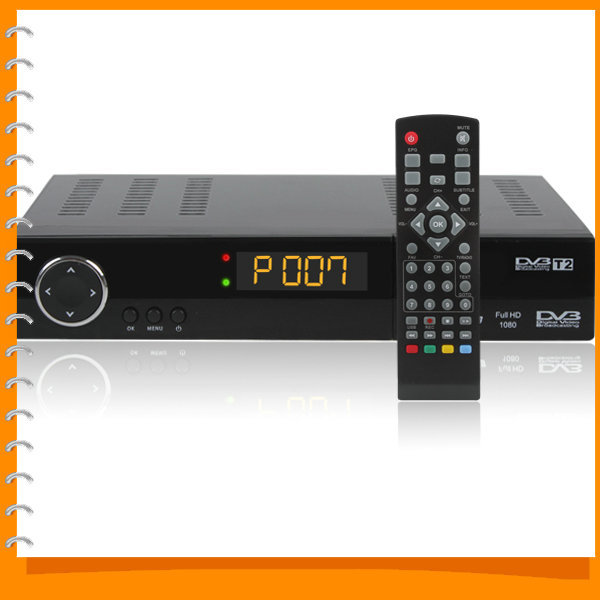 Full HD 1080P DVB T2 Receiver TV Set top Box Digital Terrestrial Receiver with USB &HDMI Interface Support MPEG4 / H.264(China (Mainland))