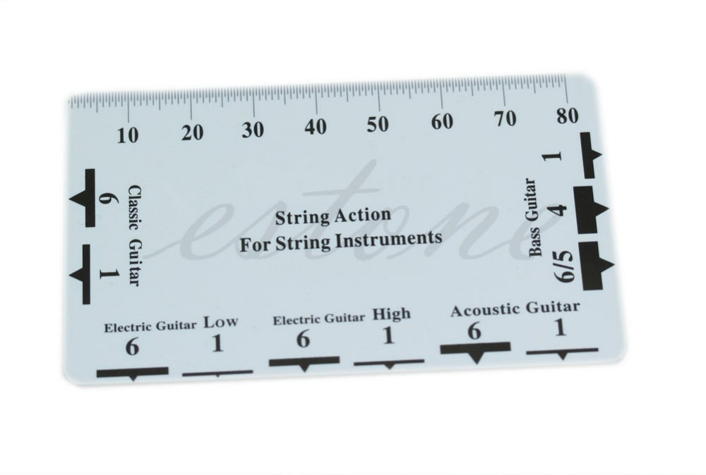 1pc Guitar String Action Gauge Ruler Measuring Tool Bass Classical Electric Acoustic(China (Mainland))