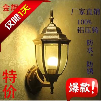 Small hexagonal outdoor wall lamp fashion wall lamp modern brief outdoor waterproof lighting fitting led lighting(China (Mainland))