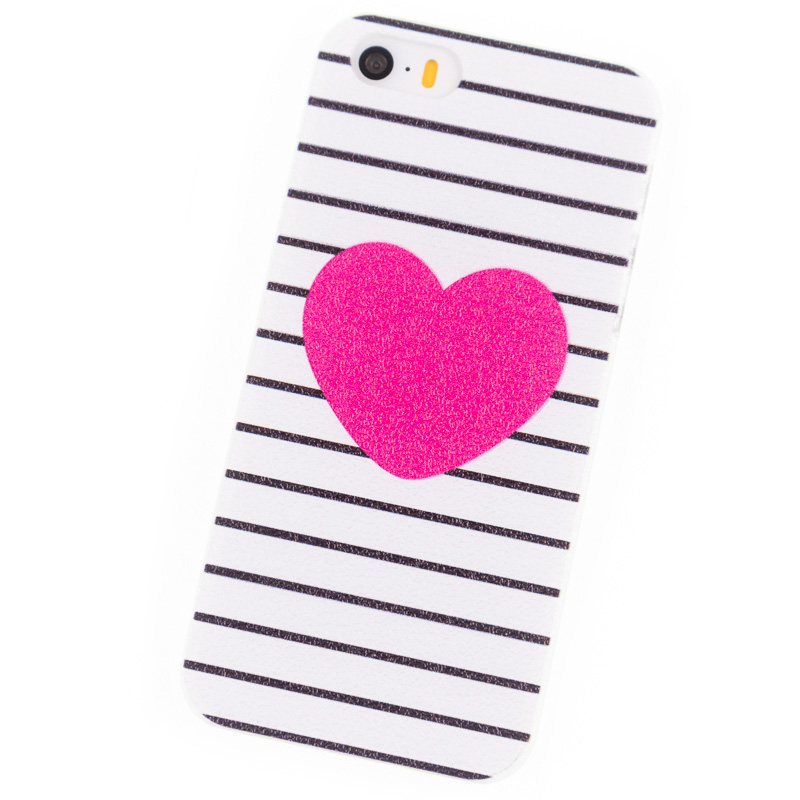 mobile Phone Cases for iPhone 4S 5S SE i6 i6Plus 6S Plus Case Housing Red hearts Stripe Cover Brand New Glass Screen Protector(China (Mainland))