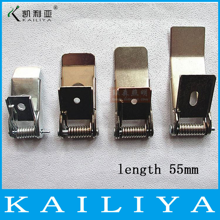 20pcs 55MM Strong metal spring clip fixed clamping ear for downlight FREE SHIPPING(China (Mainland))