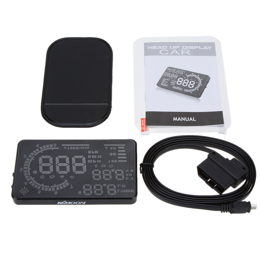 5.5 Large Screen Auto Car HUD Head Up Display Speeding Warning Windshield Project System with OBD2 Interface Plug &amp; Play<br><br>Aliexpress