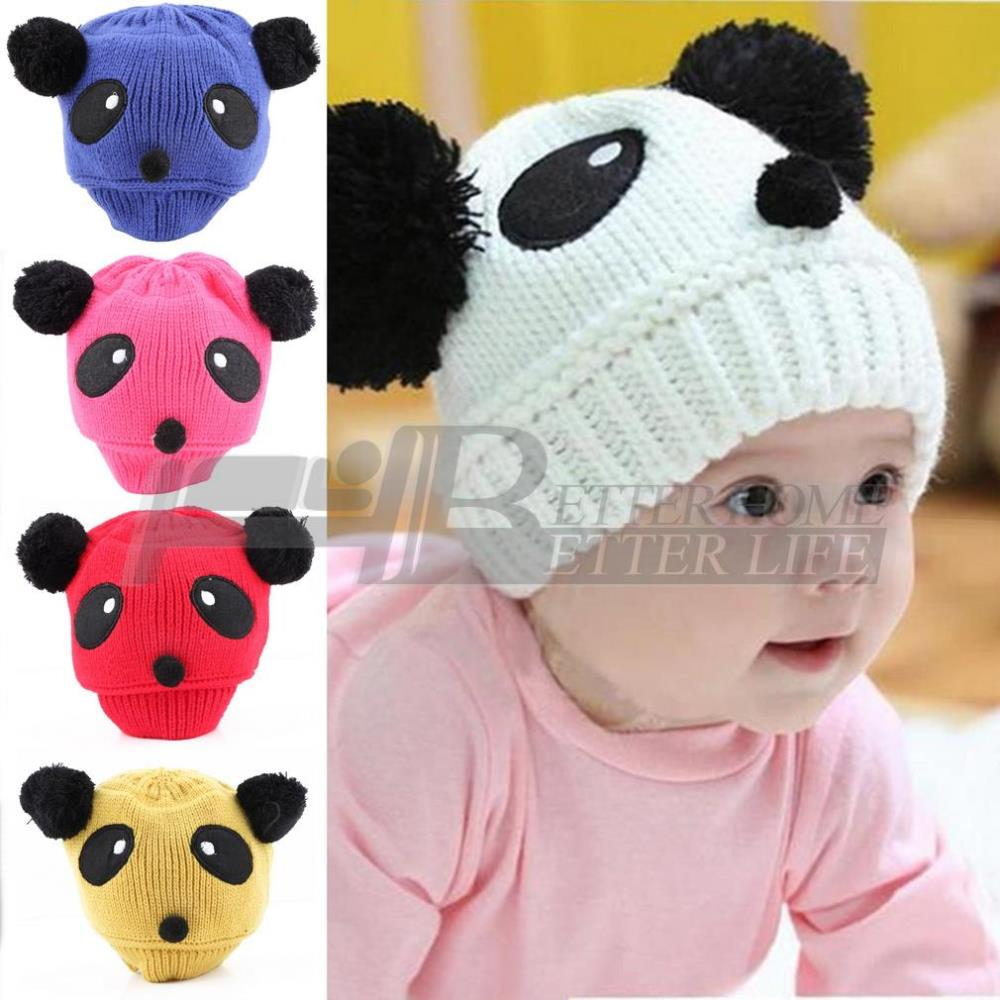 1pcs Hot Sale Lovely Animal Panda Baby Hats And Caps Kids Boy Girl Crochet Beanie Hats Winter Cap For Children To Keep Warm(China (Mainland))