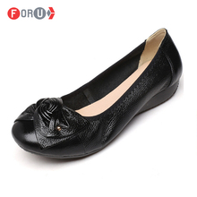 New 2016 Women Genuine Leather Flat Shoes Woman Work Shoes Fashion Female casual shoes women Flats Soft Plus size 10.5 FL1108(China (Mainland))