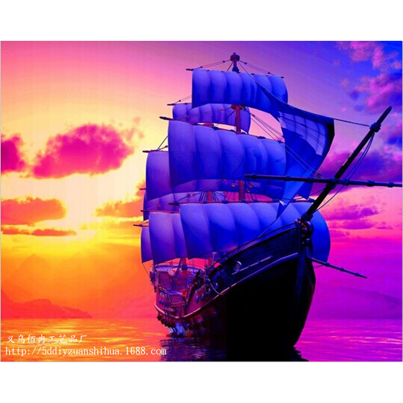 sailing boat Diy diamond painting drill rhinestone pasted full rhinestone 3d diamond painting cross stitch WL012