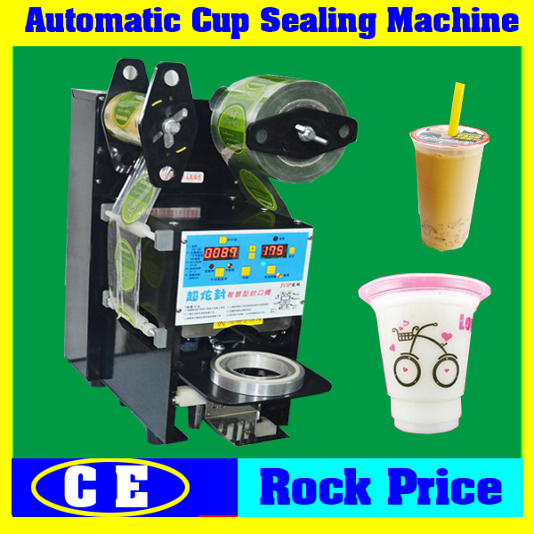 Micro Control Desktop Small Size Drink Cup Sealer,Automatic Digital Electric Portable Tabletop Plastic Paper Cup Sealing Machine(China (Mainland))