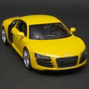 New 1:24 AUDI R8 Alloy Diecast Car Model Toy Collection With Box Yellow B1532(China (Mainland))