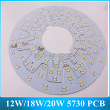LED Aluminum Plate 12W/18W/20W 5730SMD Lamp PCB Board White Warm white Color for LED Ceiling 5PCS(China (Mainland))