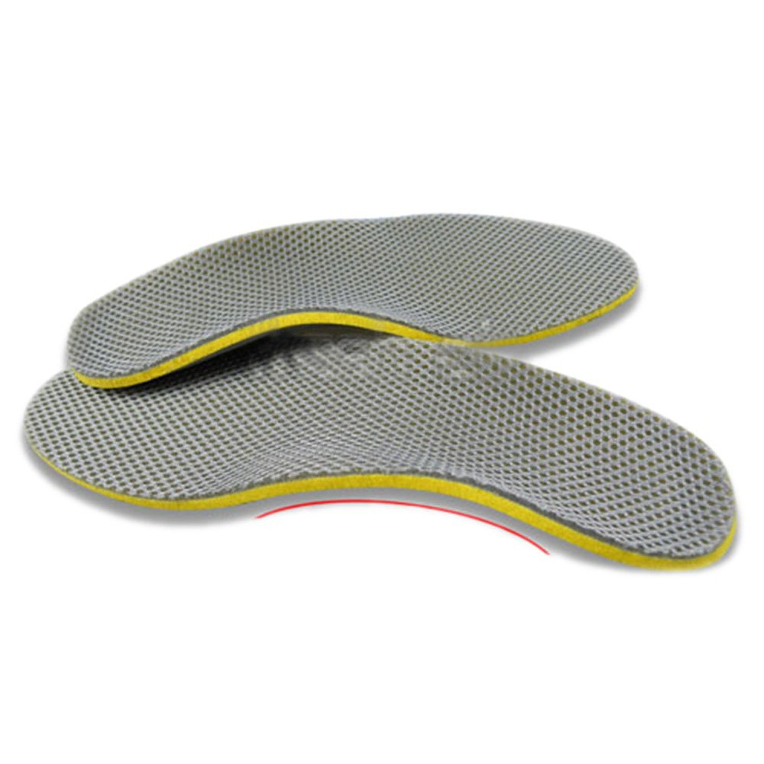 VSEN Hot StyleComfortable Orthotic Shoes Insoles Inserts High Arch Support Pad (S) yellow+Gray(China (Mainland))