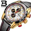 Switzerland watches men luxury brand Wristwatches BINGER Quartz watch Chronograph Diver glowwatch B1163 4