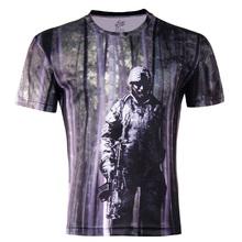 mùa hè mới thủy triều người đàn ông của thương hiệu áo sơ mi áo sơ mi đáy Hàn Quốc Việt Nam 3dt lỏng kích thước lớn thường ngắn- tay t- áo sơ mi nam giới hoang dã