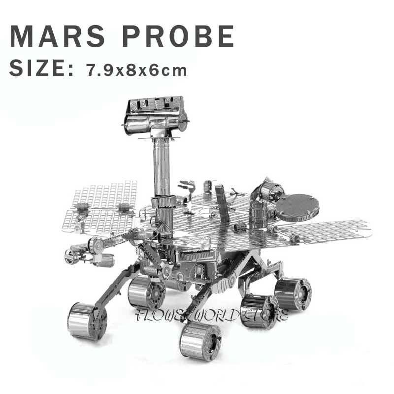 Creative Mars Rover 3D puzzle metal model DIY puzzles Wanderer No. Space vehicles Jigsaws Space Robot Adult/Children gifts toys(China (Mainland))