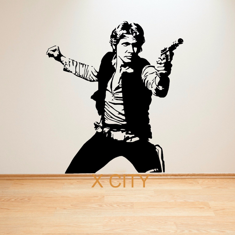 LARGE LUKE SKYWALKER STAR WARS VINYL SELF ADHESIVE WALL ART ROOM MURAL GIANT STICKER DECAL(China (Mainland))