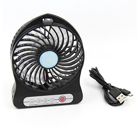 4 inch3 vitesses lectrique portable rechargeable mini ventilateur batterie de ventilateur de. Black Bedroom Furniture Sets. Home Design Ideas