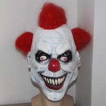 X-ВЕСЕЛЬЧАК Страшный Клоун Маска Широкая Улыбка Рыжие Волосы Зло Взрослых Жуткий Хеллоуин Костюм НЬЮ-(China (Mainland))