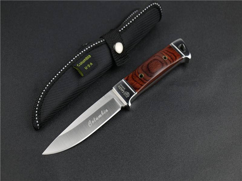 Buy Survival Knife SR Fixed Blade Knife With Nylon Sheath Wood Handle Hunting Tactical Camping Knives Outdoor Tools Free Shipping 01 cheap