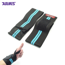 AOLIKES 1Pair Weightlifting Wristband Sport Professional Training Hand Bands Wrist Support Straps Wraps Guards For  Z12501(04)(China (Mainland))