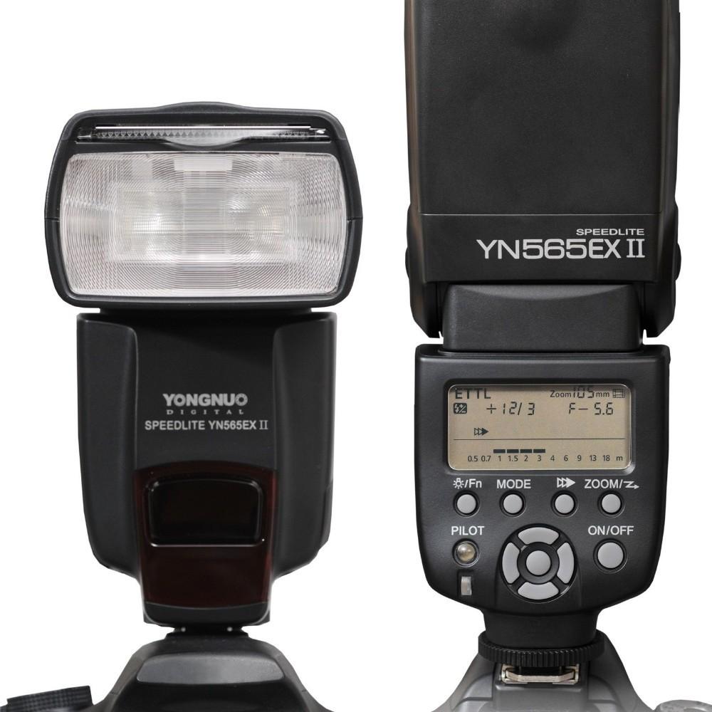 "YongNuo YN565EX II 2.0"" LCD TTL Flash Speedlite Speedlight for Canon DSLR - Black (4 x AA) T5(China (Mainland))"