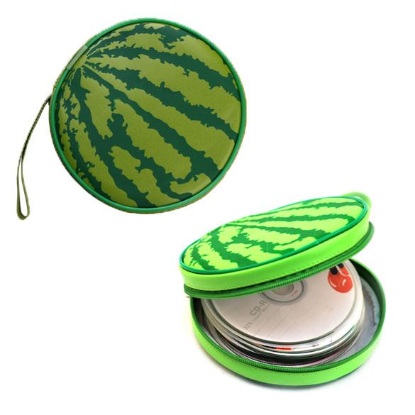Watermelon Pattern 24 Sleeves Game CD Bag DVD VCD Discs Slots Organizer Wallet Storage Sheet Case Holder PTSP(China (Mainland))