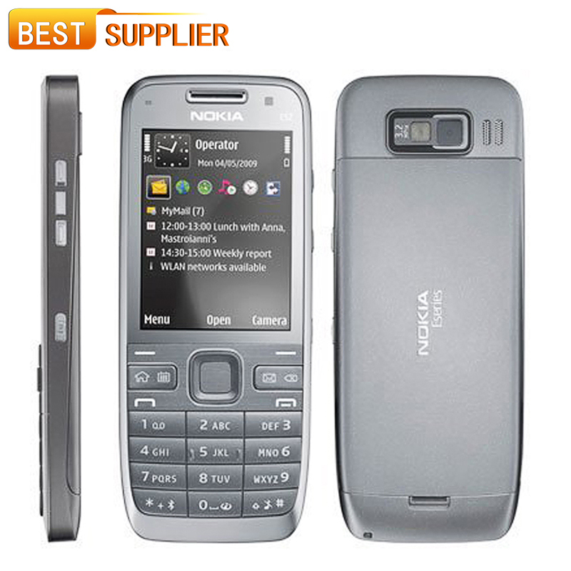 2016 Limited Direct Selling 480p Color Bar Original Nokia E52 Phone Bluetooth Wifi Gps Cell Support Arabic / Russian Keyboard(China (Mainland))
