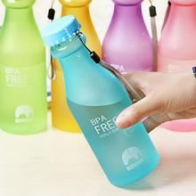 Portable Water Bottle for Travel 5 Candy Colors Unbreakable Frosted Leak-proof Plastic Cup 550mL BPA(China (Mainland))