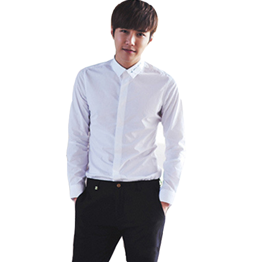 Shirt design new look - Hot Sale New Style Spring High Quality Male Shirts Fashion Trend Cotton Full Sleeve Slim Looking