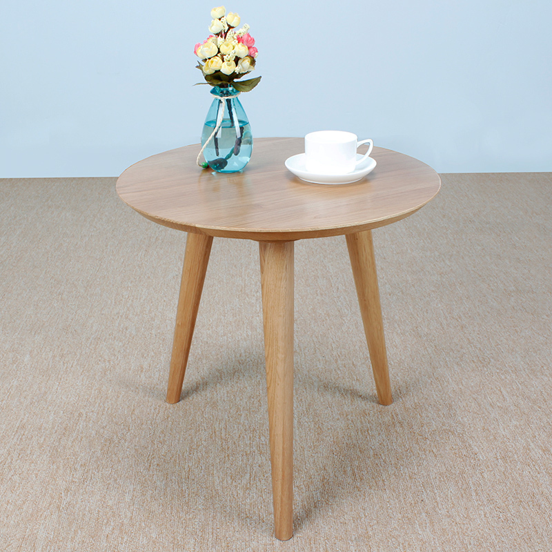 White Oak Solid Wood Furniture Japanese Style Side Table Round Coffee Table Corner Cabinet A