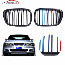 Buy Car Grills E39 Gloss Black M color Front Kidney Grilles Double line Grills BMW E39 M5 1997 2003 C/5 for $71.80 in AliExpress store