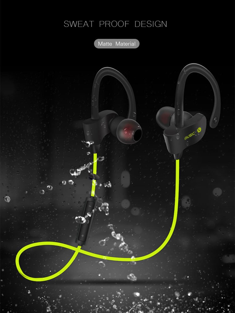 Original Sports Wireless Bluetooth Earphones Stereo Earbuds Headset Headphones with Mic in-ear for iPhone 6 Samsung Xiaomi Phone