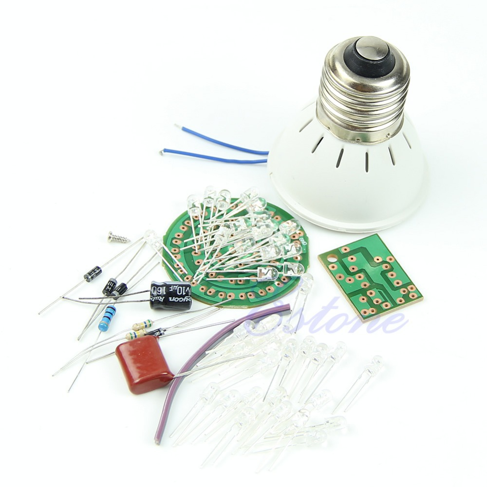 E79 1 Set Energy-Saving Light 38 LEDs Lamps DIY Kits Electronic Suite(China (Mainland))