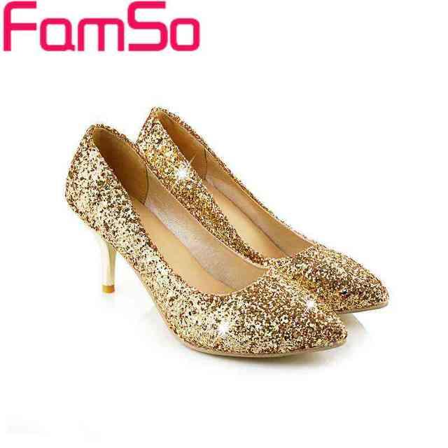 Большие Размер34-43 2016 новых мужчин туфли на высоком каблуке черное золото серебро ...