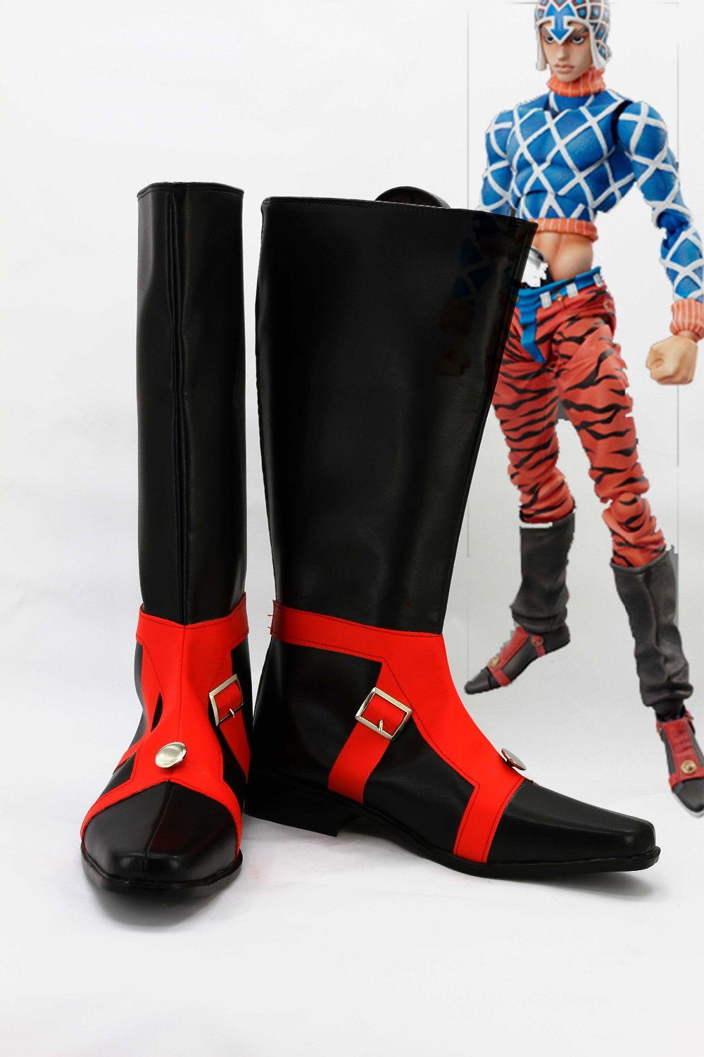 Фотография New male female costumes COS BIZARRE ADVENTURE GUIDO MISTA COSPLAY customized GUIDO MISTA shoes boots costumes