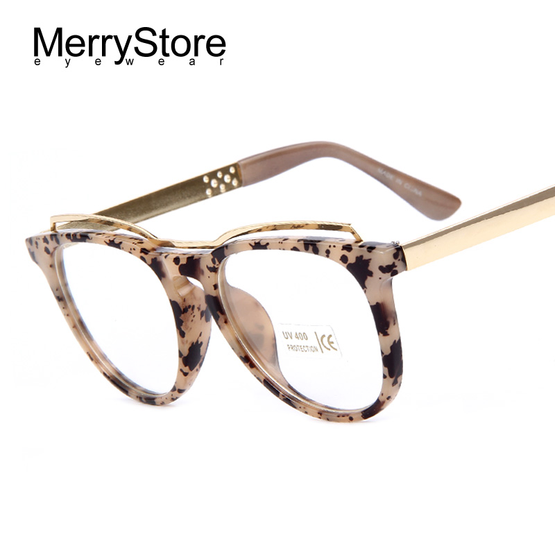 Eyeglass Frame Designers : MERRYSTORE Fashion Women Cats Eye Glasses Brand Designer ...