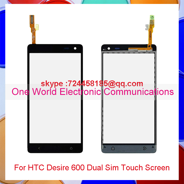One World 50pcs/lot New High Quality 4.5'' For HTC Desire 600 Touch Screen Digitizer Sensor Front Glass Lens Free Shipping(China (Mainland))