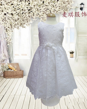 Free shipping new arrive 2013 wedding gowns kids  children party frock wedding dress 2 color