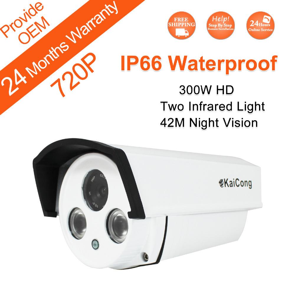 FREE SHIPPING 720P IP66 Waterproof HD IP Camera CCTV Camera H.264 Free Iphone Android App KaiCong Sip1304 Oem Support(China (Mainland))