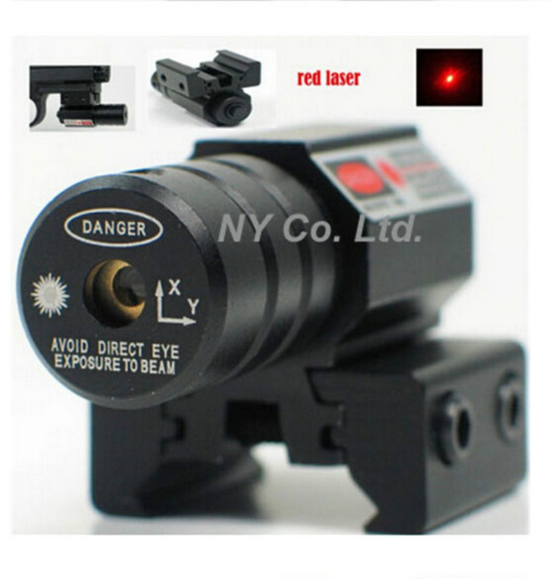 50-100 Meters Range 635-655nm Red Dot Laser Sight For Pistol Adjust 11mm&20mm Picatinny Rail Free Shipping(China (Mainland))