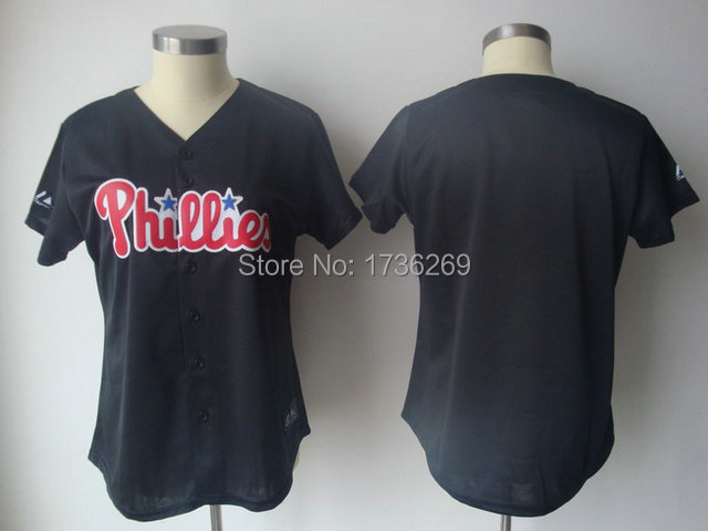 women wholesale custom made baseball jerseys Philadelphia Phillies customized Your Name Number mix order ,embroidered logos(China (Mainland))